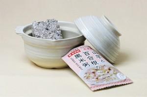 山芋と百合根の黒米粥
