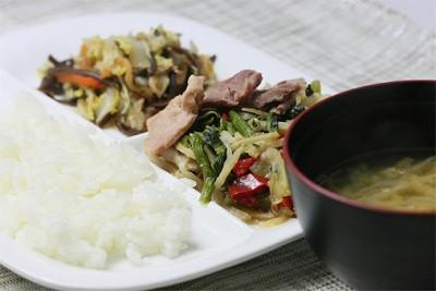 豚肉と野菜の五目炒めセット