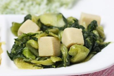 青梗菜と高野豆腐の煮びたし
