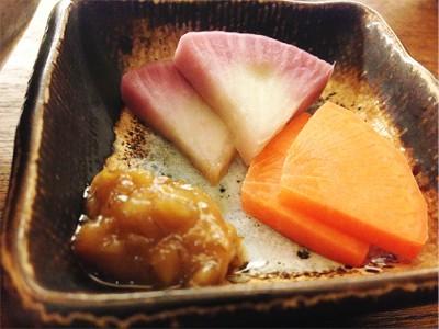 糠漬(ぬかづけ)二種類 ~ひしお味噌~