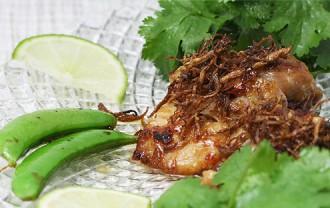 しょうがたっぷり!タイ風鶏の照り焼き