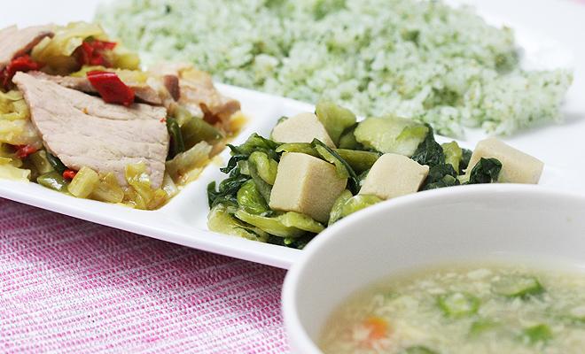 豚肉とキャベツの味噌炒めセット