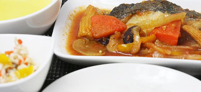 魚のラタトゥユソース添えセット